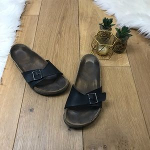 Birkenstock Madrid Black Sandals Sz 40